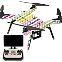 MightySkins Protective Vinyl Skin Decal for 3DR Solo Drone Quadcopter wrap cover sticker skins Rainbow Chevron
