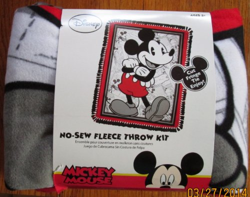 No Sew Fleece Throw Kit - Mickey Mouse on Comic Strip Background by Springs Creative Products