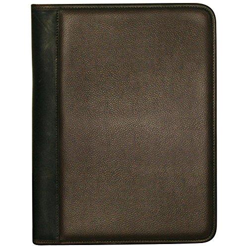 (Buxton Genuine Leather Trim Padfolio, Brown)