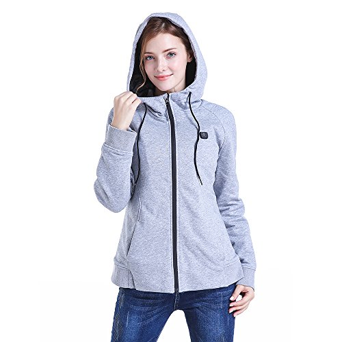 CLIMIX Women Slim Fit Heated Hoodie Jacket Kit with Battery Pack (M) by CLIMIX (Image #2)