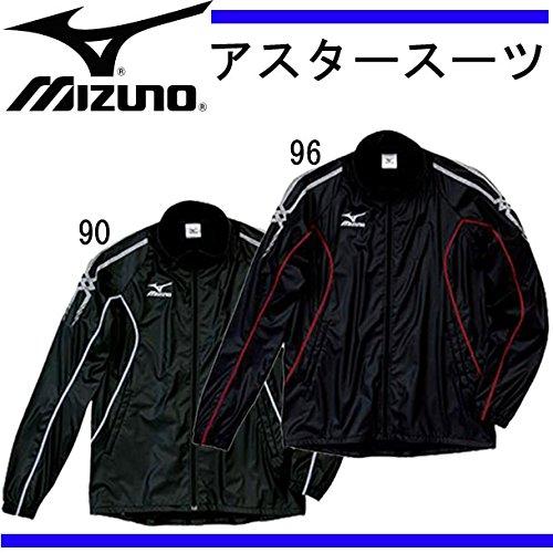 レコーダー産地管理するミズノ アスタースーツ シャツ ブラック×ホワイト L