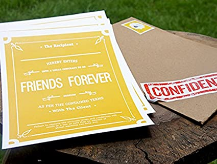Oyehappy funny friendship contract gift for friend bestfriend oyehappy funny friendship contract gift for friend bestfriend boyfriend girlfriend altavistaventures Images