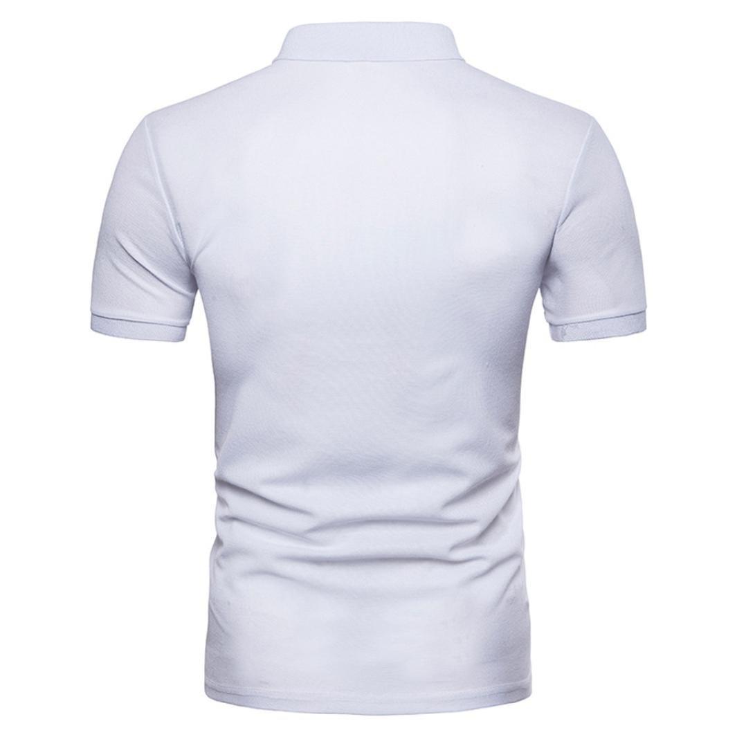VESNIBA Mens Shirt,Mens Casual Slim Patchwork Short Sleeve T Shirt Blouse