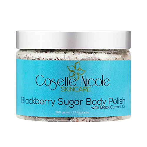 Blackberry Sugar Body Polish ~ ALL-NATURAL body scrub & exfoliating treatment ~ Skin softening & nourishing. Helps reduce appearance of acne, stretch marks, varicose veins and age spots~ 13.4 ounces