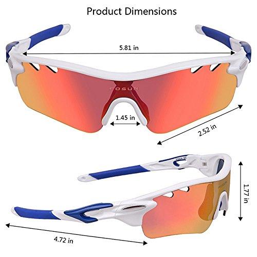 de Gafas Sol de Montar polarizadas de Gafas a Aire Libre Blanco Prueba antivaho Sol Gafas para Gafas Sol para LBY Viento Hombre de Deportes y Color para Azul al gCCYBq