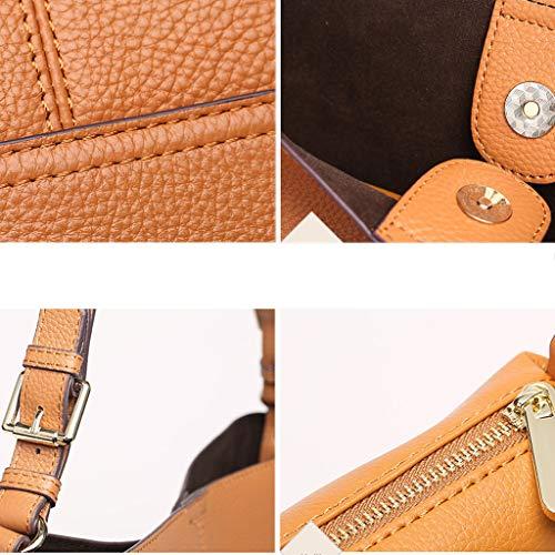 sac bandoulière sac Sac à Sac main bandoulière à modèle Sac PU Lychee bandoulière à moyen Lady Caramel à wqtR5gx1t