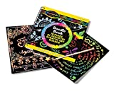 Melissa & Doug Scratch Art Doodle Pad With 16 Scratch-Art Boards and Wooden Stylus