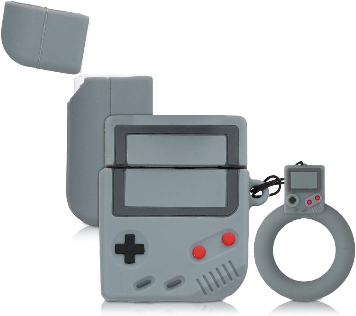 con dise/ño de Game Boy Carcasa Protectora de Silicona kwmobile Funda para Auriculares Apple AirPods