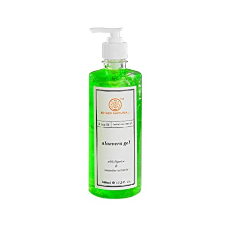 Khadi Natural Ayurvedic Aloevera Gel With Dispenser, 500ml Moisturizers at amazon