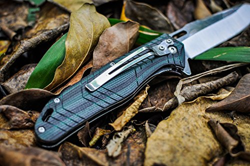 KUBEY-Large-Camping-Tactical-Folding-Knife-8cr14mov-Stainless-Steel-G10-Scales-Handle-4-12-Inch-ClosedKU-087