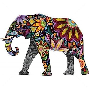Diseño de elefante de colores Temporal Tatuaje por temptatz ...