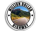 million dollar kitchens GHaynes Distributing Round MILLION DOLLAR HIGHWAY Sticker Decal (co colorado rv) 4 x 4 inch