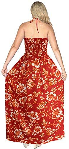 baño Playa LEELA de Las de LA Falda la Noche el de Traje Arriba Camiseta Mangas Maxi Largo de Ropa sin Vestido Mujeres Tubo para de Rojo f384 Cubre del dwFwYxqO