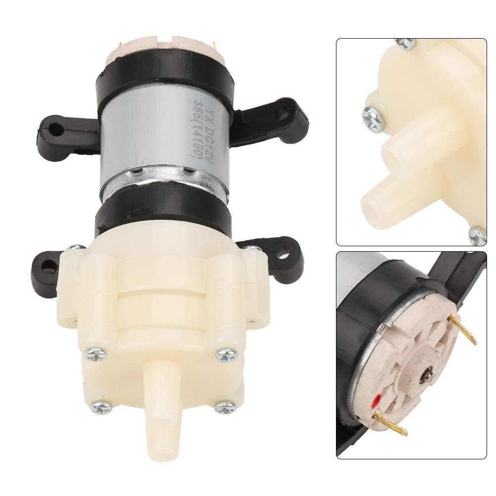 refrigeraci/ón por agua acuari Micro bomba de diafragma 1.5-2L // Min Max 2m Bomba de agua de alta presi/ón Interruptor autom/ático para la m/áquina de t/é Mini bomba de succi/ón agua el/éctrica DC 12V