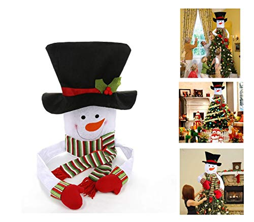 - Christmas Tree Topper Snowman Hugger Large Snowman Tree Topper,Christmas Tree Decorations Xmas/Holiday/Winter Wonderland Party Decoration Ornament Supplies