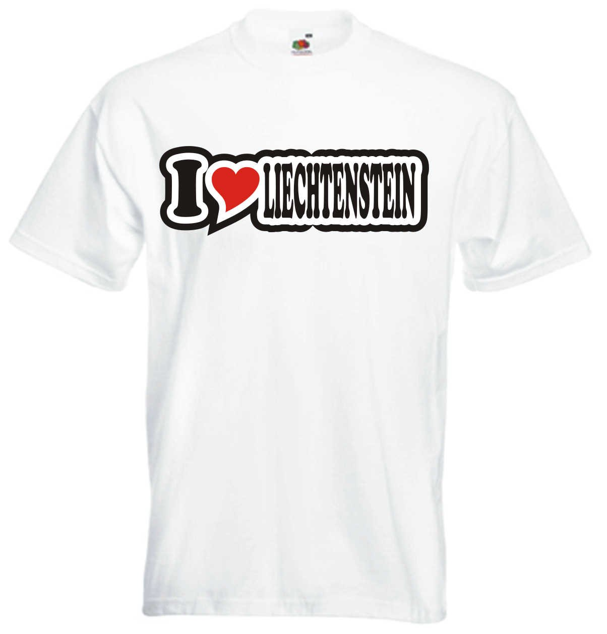 I Love Heart T-Shirt Men I LOVE LIECHTENSTEIN Black Dragon