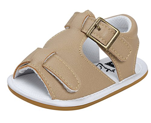 Happy Cherry Classic Collection Baby Casual Summer Sandals Comfortable Antiskid Slippers Khaki (Cherry Classic Collection)