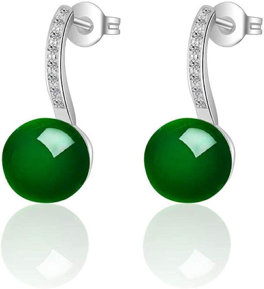 Pendientes de ónix Pendientes de diamantes de jade coreano joyas Kdw