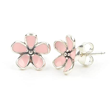 125971fa8 Image Unavailable. Image not available for. Color: Tstores TS Pink Cherry  Blossom Flower Stud Earrings ...