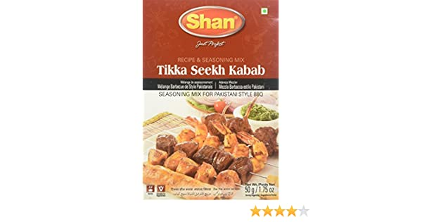 Amazon.com : Shan Tikka Seekh Kabab BBQ Mix, 1.75 Ounce (Pack of 6) : Indian Seasonings : Grocery & Gourmet Food