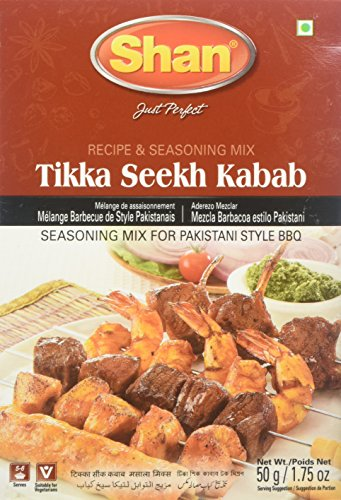 Shan Tikka Seekh Kabab BBQ Mix, 1.75 Ounce (Pack of 6) by Shan