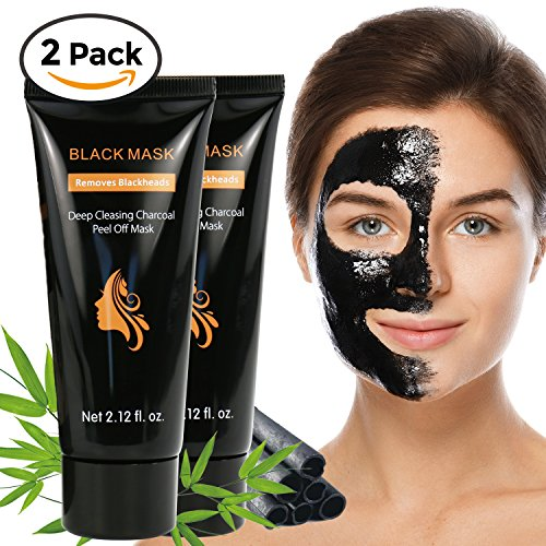 2018 Upgraded 2 Packs Blackhead Remover Mask, Face Blackhead Mask for Removing Blackead, Charcoal Blackhead Remover Mask for Nose and Body, Best Charcoal Peel Off Blackhead Remover Mask