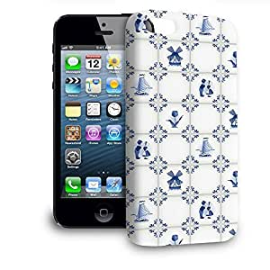 Phone Case For Apple iPhone 5 - Delt Blue Holland Pottery Wrap-Around Cover