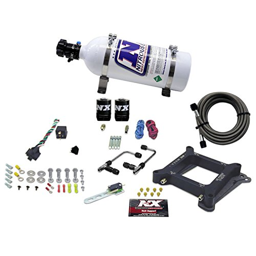 Nitrous Express 60040-05 4150 50-300 HP Gemini Twin Stage 6 Plate System with 5 lbs. Bottle. (Gemini Twin Stage)