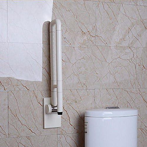 浴室用手すり お年寄りの障害者の手すりのトイレトイレのトイレのステンレスの障害の馬瓶の助力棚は折りたたみます,黄色