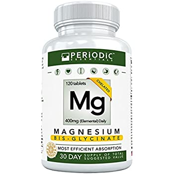 Chelated Magnesium Supplements Bisglycinate • Harvard Studied Absorption • Dual Glycinate Amino Acid Chelate 400mg • Best for Mg Deficiency • Non Laxative ...
