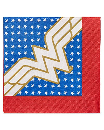 American Greetings Wonder Woman 16 Count Lunch Napkins Lunch -