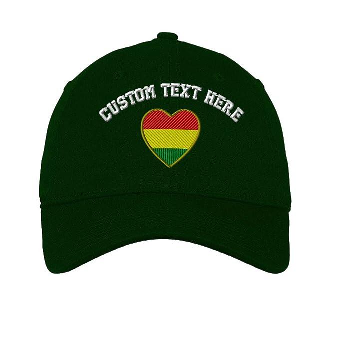 Amazon.com  Custom Heart Bolivia Flag Embroidery Design Unisex Adult ... 8d566951fc6d