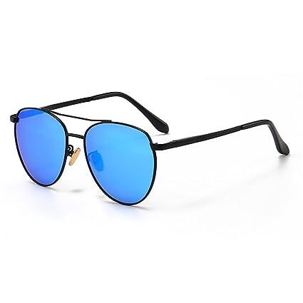 14617016d2 Gafas de seguridad Forma ovalada pequeña Gafas de sol de la personalidad  Metal completo bordeado con