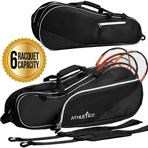 Athletico 6 Racquet Tennis Bag | Padded to Protect Rackets & Lightweight | Professional or Beginner Tennis Players | Unisex Design for Men, Women, ...
