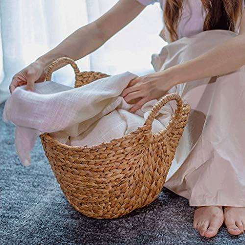 TXC- Panier de rangement pour vêtements sales, panier de rangement pour vêtements ménagers seau de rangement haute capacité, Herbe, L45*W38*H42cm