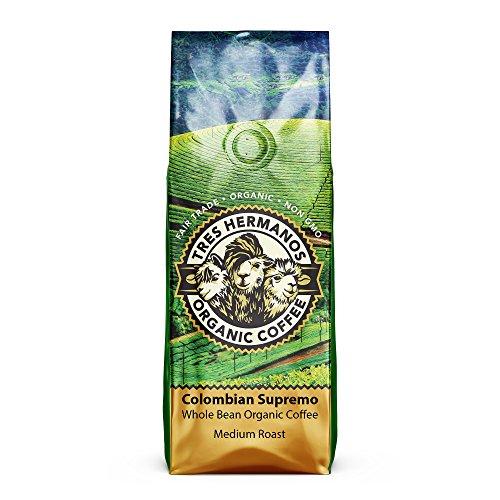 (Tres Hermanos Fairtrade Low-Acid Organic Coffee (Colombian Supremo Medium Whole Bean Coffee, 2 lb))