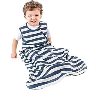 Organic Cotton Baby Sleep Bag or Sack, Baby Wearable Blanket, 6-18 Mo, Navy