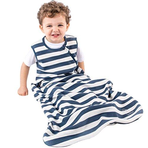 Organic Cotton Baby Sleep Bag Sack, Toddler Sleeping Bag, 18-36 Mo, Navy