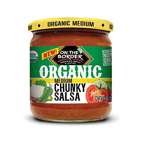 On The Border Organic Chunky Medium Salsa, 8 Count