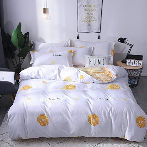 Muicook Bedding Set,Three Piece Bedding Tribute Cotton Pillowcase Creative Pattern Full Size(Multicolor,Twin)