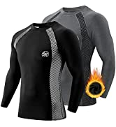 MEETWEE Thermal Shirts for Men, Long Sleeve Fleece Lined Base Layer Cold Weather Winter Warm Comp...