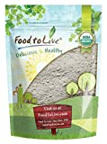 #4: Organic Dark Rye Flour by Food to Live (Whole Grain, Non-GMO, Stone Ground, Kosher, Raw, Vegan, Bulk, Great for Baking Bread, Product of the USA) — 4 Pounds