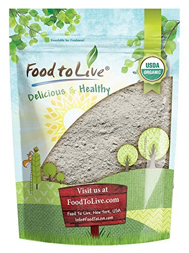 (Organic Dark Rye Flour by Food to Live (Whole Grain, Non-GMO, Stone Ground, Kosher, Raw, Vegan, Bulk, Great for Baking Bread, Product of the USA) — 4 Pounds)