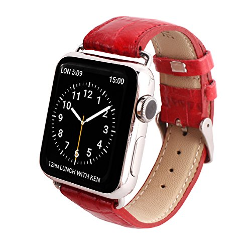 GAZE Band Red Croco for Apple Watch 42mm by Layblock