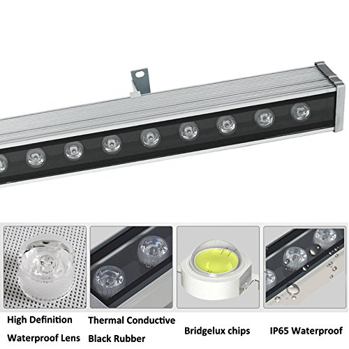Rsn Led 24w Linear Bar Light Cool White 6000k Outdoor Wall