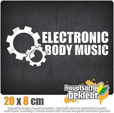 KIWISTAR Aufkleber Elektronic Body Music Autoaufkleber Sticker Bomb Decals Tuning Bekleben EBM Zahnrad