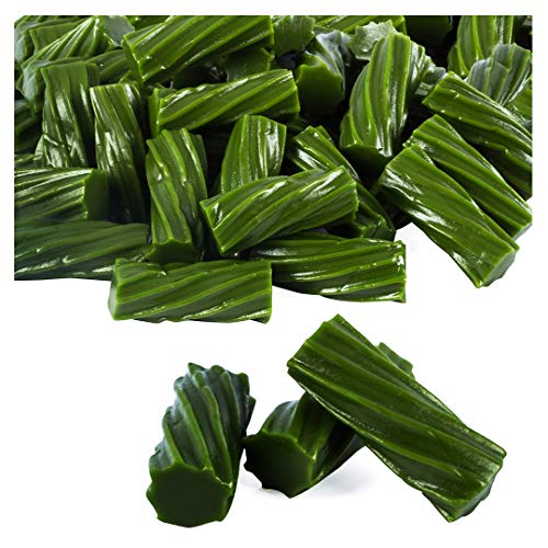 Licorice - 4LBs - Licorice Candy - Wiley Wallaby Licorice - Green Apple Candy - Green Apple Licorice Twists - Green Licorice Candy - Australian Licorice - Bulk -