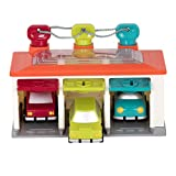 Battat 3 Car Garage Shape Sorter with 3 Toy Cars and Keys for 2 years+ (5 pieces)