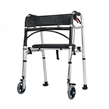 LHNLY-Andadores Estándares Caminador de Viaje Plegable ...