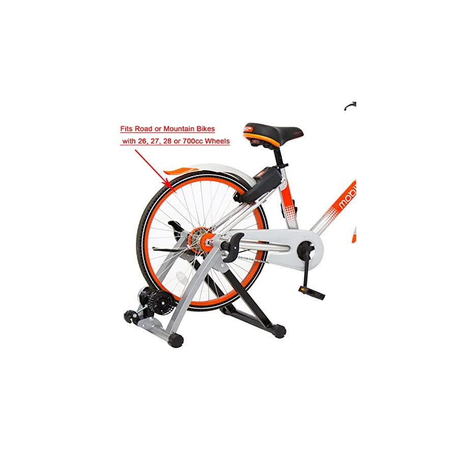 Kinbor Indoor Bike Trainer Exercise Stand Fitness Fan Fly Wind Wheel, Silver